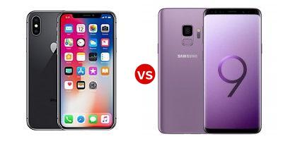 Compare Apple iPhone X vs Samsung Galaxy S9
