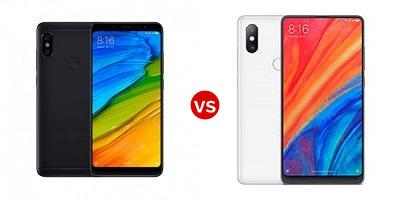 Compare Xiaomi Redmi Note 5 AI Dual Camera vs Xiaomi Mi Mix 2S